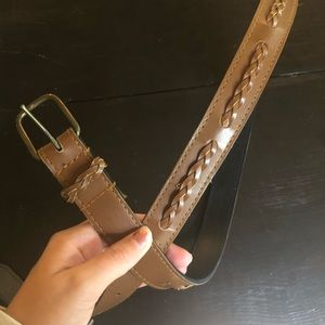 3 FOR 15🌸 brown braided belt